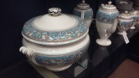 Lot 1250-WEDGWOOD 'TURQUOISE FLORENTINE' PATTERN DINNER...