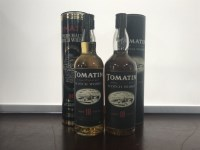 Lot 11-TOMATIN AGED 10 YEARS (2) Active. Tomatin,...