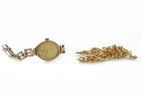 Lot 500-NINE CARAT GOLD CHAIN NECKLACE 13.4g; along with...