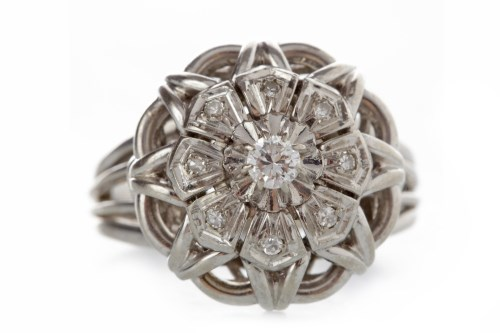 Lot 530-MID TWENTIETH CENTURY DIAMOND DRESS RING the...