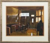 Lot 75-* BRYAN EVANS, WINTER'S GILLS watercolour on...