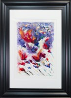 Lot 89-BILL BLACKWOOD, REACH FOR THE SKY watercolour and ...