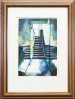 Lot 126-* BRYAN EVANS, SUNLIT BLUE watercolour on paper,...