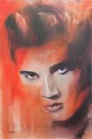 Lot 141-* JOE HENDRY, ELVIS oil on canvas, signed 91cm x...