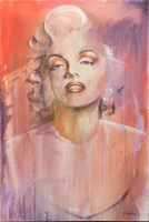 Lot 143-* JOE HENDRY, MARYLIN oil on canvas, signed 91cm...