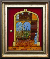Lot 153-IAIN CARBY, SPANISH DOORWAY oil on canvas, signed ...