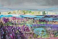 Lot 198 - MAY BYRNE, WILD MACHAIR mixed media on board,...