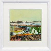 Lot 259 - MAY BYRNE, SHORELINE AND CREELS mixed media on...