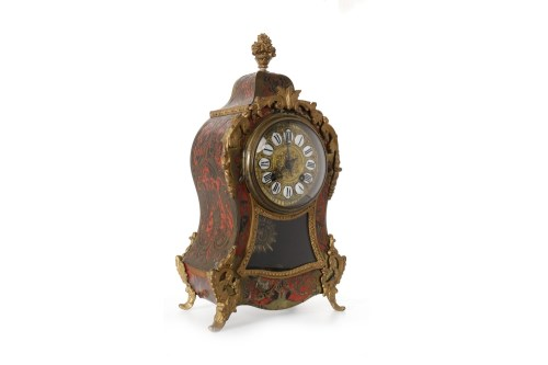 Lot 1404-19TH CENTURY BOULLE MANTLE CLOCK the movement by...