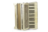 Lot 1406-'TANGO III' ACCORDIAN BY HOHNER pearline finish,...