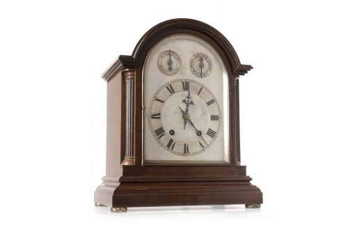 Lot 1417-EDWARDIAN MANTEL CLOCK the two train 8 day...