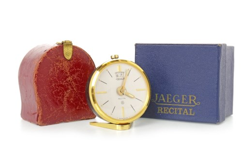 Lot 1422-JAEGER LE COULTRE 'RECITAL' DESK CLOCK 8 day...