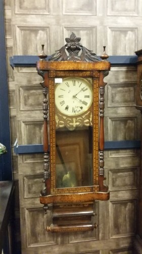 Lot 1426-19TH CENTURY ANGLO-AMERICAN WALL CLOCK BY JEROME...