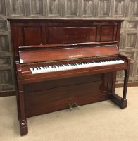Lot 1428-UPRIGHT OVERSTRUNG PIANO by C Bechstein,...