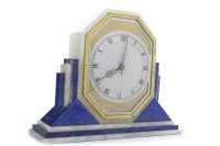 Lot 1433-ART DECO MANTEL CLOCK the movement by Smith's...