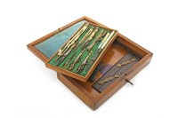 Lot 1445-SET OF LATE VICTORIAN DRAWING TOOLS BY ALEX...