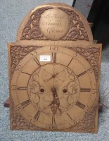 Lot 1448-GEORGE III SCOTTISH LONGCASE CLOCK FACE the 2...