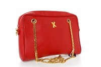 Lot 1612-HANDBAG BY PALOMA PICASSO made in Italy, the red...