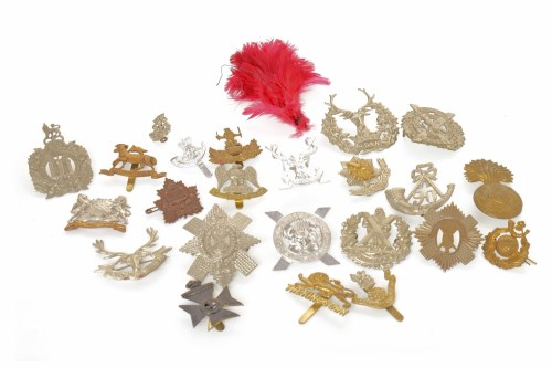 Lot 1625-GROUP OF BRITISH REGIMENTAL CAP AND OTHER...