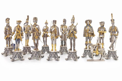 Lot 1635 - GROUP OF ELEVEN MODERN ITALIAN GILDED WHITE...