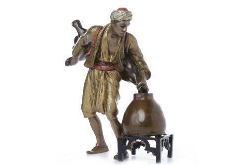 Lot 1638 - IN THE MANNER OF BERGMAN - COLD PAINTED BRONZE...