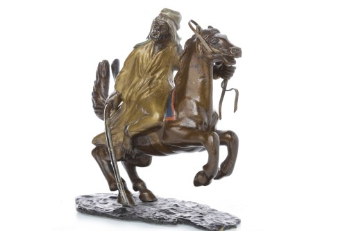 Lot 1639 - IN THE MANNER OF BERGMAN - COLD PAINTED BRONZE...