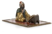Lot 1640-IN THE MANNER OF BERGMAN - COLD PAINTED BRONZE...