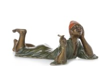 Lot 1642-IN THE MANNER OF BERGMAN - COLD PAINTED BRONZE...
