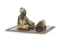 Lot 1643-IN THE MANNER OF BERGMAN - COLD PAINTED BRONZE...