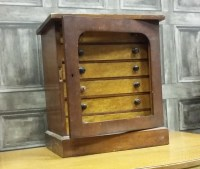 Lot 1651-VICTORIAN SIX DRAWER SPECIMEN CABINET each drawer ...
