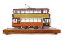 Lot 1653-MODEL GLASGOW STANDARD TRAMCAR IN GLAZED CASE in...