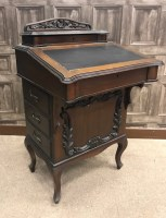 Lot 1660-EDWARDIAN MAHOGANY DAVENPORT WRITING DESK of...