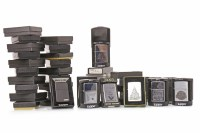 Lot 1675 - COLLECTION OF ZIPPO LIGHTERS including designs...