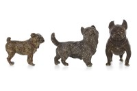 Lot 1681 - AUSTRIAN BRONZE OF A FRENCH BULLDOG stamped...