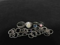 Lot 10-COLLECTION OF SILVER JEWELLERY including a...