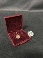 Lot 19-NINE CARAT GOLD CHAIN WITH NINE CARAT GOLD FOB...