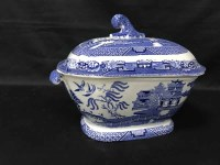 Lot 22-DELFT STYLE CERAMIC WARES including a tureen and...