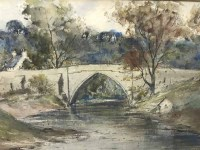 Lot 56-S W DAVIDSON BRIG O'BALGOWNIE watercolour; and...