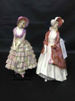 Lot 64-TWO ROYAL DOULTON LADIES: 'THE PAISLEY SHAWL' AND ...