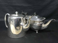 Lot 71-LOT OF SILVER PLATE including teapots, toast rack,...