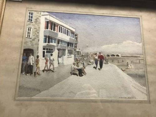 Lot 72-ALASTAIR MCKENZIE STREET SCENE watercolour on...