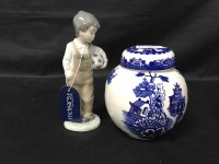 Lot 74-LOT OF DELFT CERAMICS including Stafordshire...