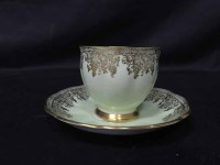 Lot 75-BELL CHINA PART TEA SERVICE with gilt detail on a ...