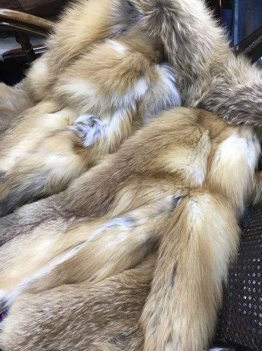 Lot 76-FOX FUR JACKET along with a fur stole