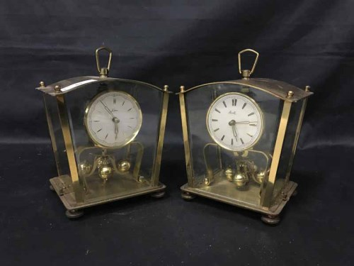 Lot 80-FIVE ANNIVERSARY CLOCKS along with a Continental...