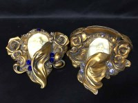 Lot 87-TWO ART NOUVEAU STLYE WALL SCONCES