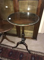 Lot 95-OVAL HALL MIRROR along with circular hall table...