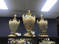 Lot 105-SET OF THREE TABLE LAMPS