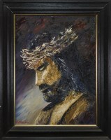 Lot 64-* J P MCLAUGHLIN, CROWN OF THORNS oil on canvas,...