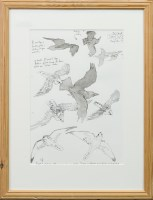 Lot 95-* CHRIS AND VIKKY FURSE, SEABIRDS pen and wash on ...